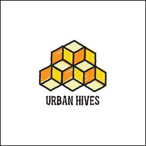 A funky, fresh logo for Urban Hives: Interiors + Organization
