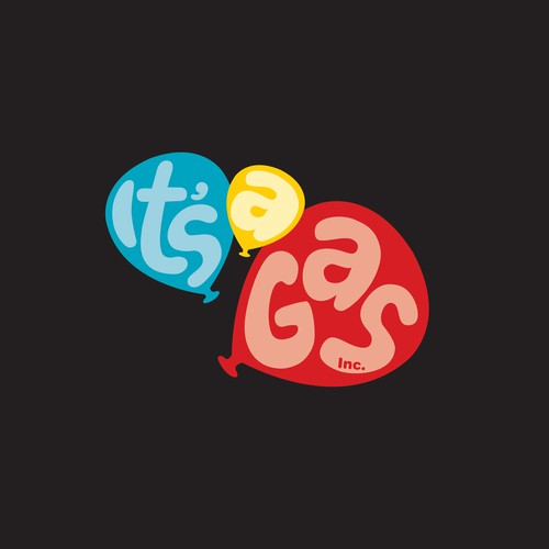 It's A Gas, Inc. Balloons and Helium Supply needs BOLD, FUN logo