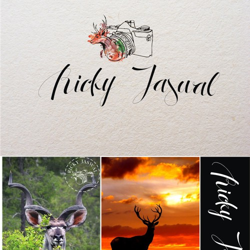 Design a stand-out watermark logo for wildlife photographer and traveler