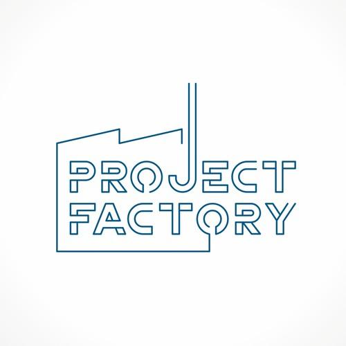 Project Factory logo design concept
