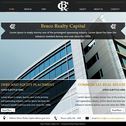Help Braco Realty Capital, LLC with a new website design