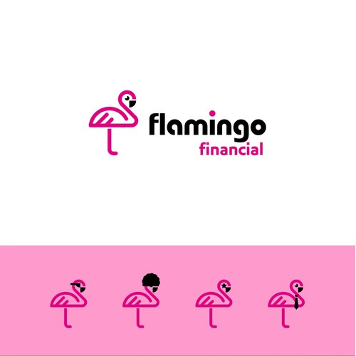 Flamingo logo for a financial firm
