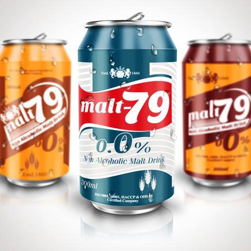 Non Alcoholic Malt Drink can design