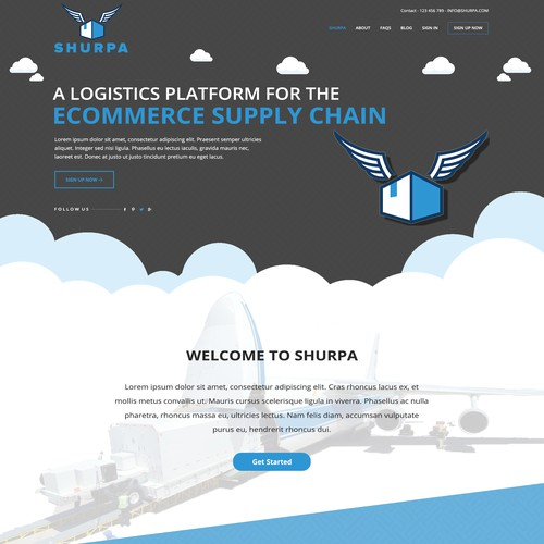 Logistic Delivery Site design