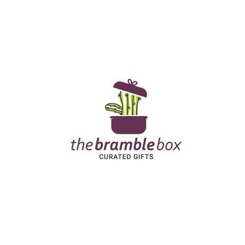 Gift box cactus logo