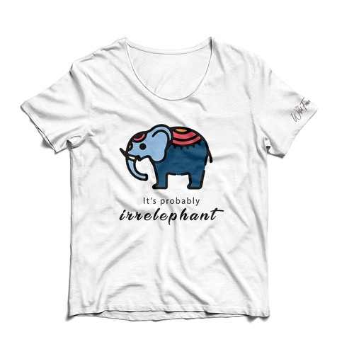 T-shirt for charity to help save elephants
