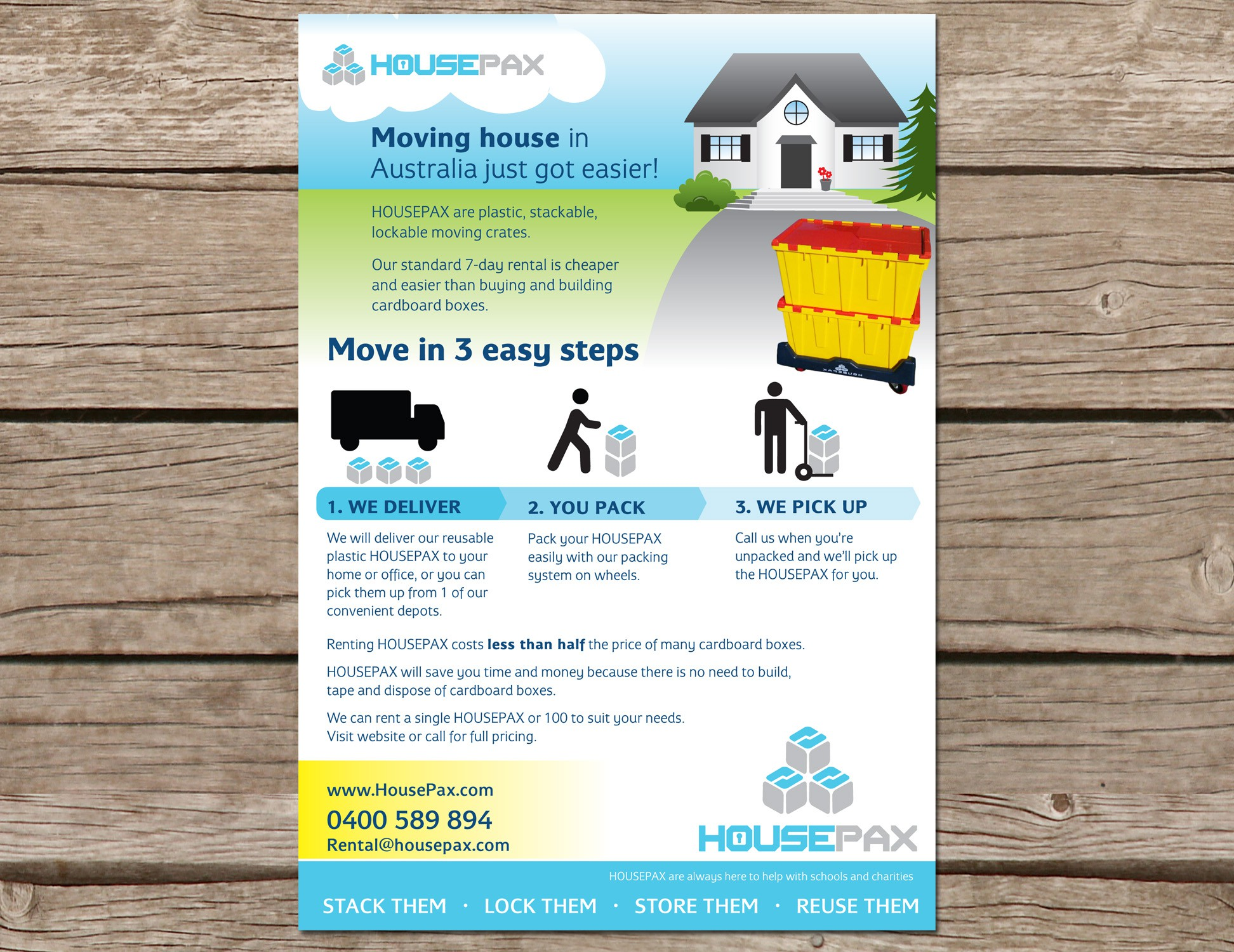 New postcard or flyer wanted for HousePax .