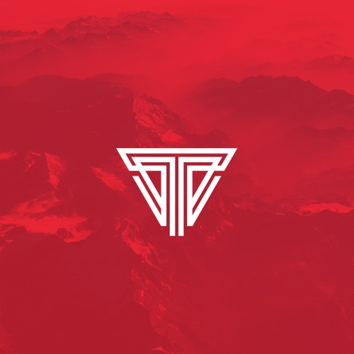 Geometric initials logo