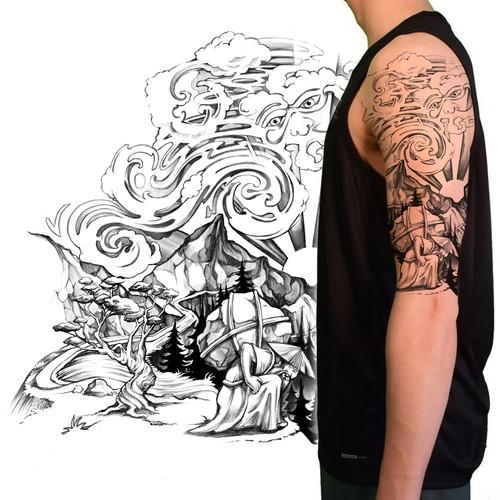 Asian Story Tattoo