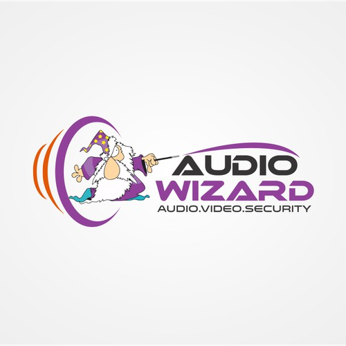 Audio Wizard Business Logo for Home Theater Company