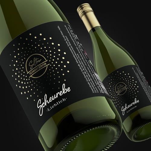 Scheurebe wine label
