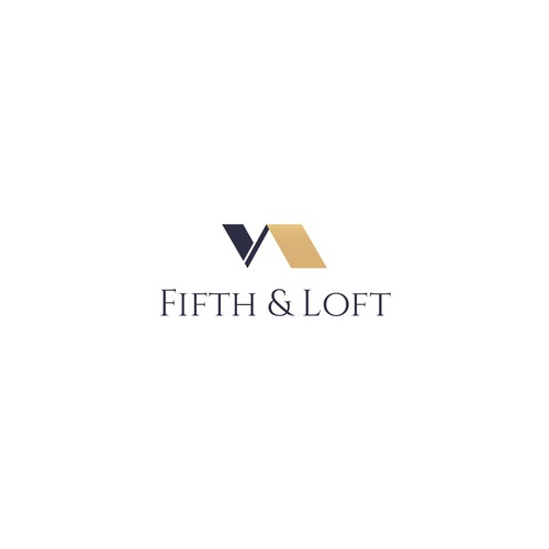 Fifth & Loft - sophisticated logo design