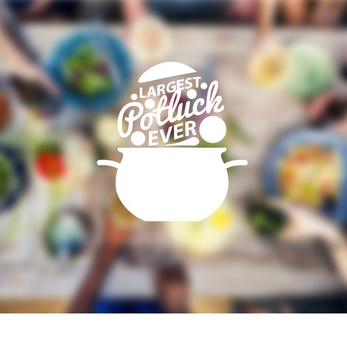 Logo concept for Largest Potluck Ever