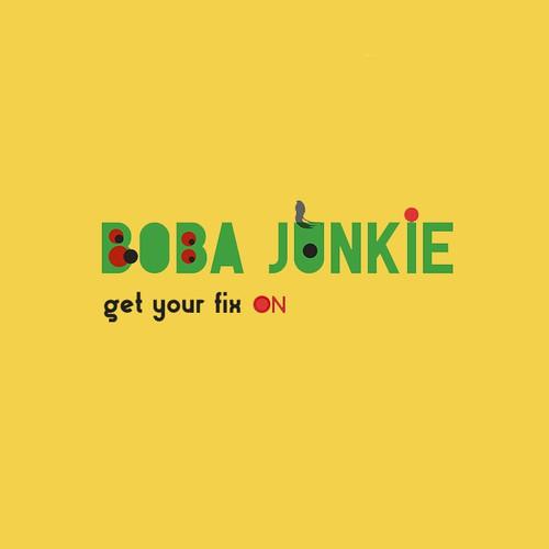 Fun and modern LOGO for boba tea/smoothie shop