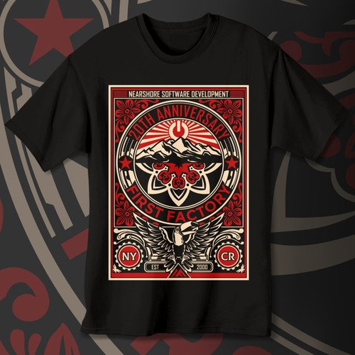 Design an ObeyGiant inspired T-shirt for NYC-Costa Rican Company