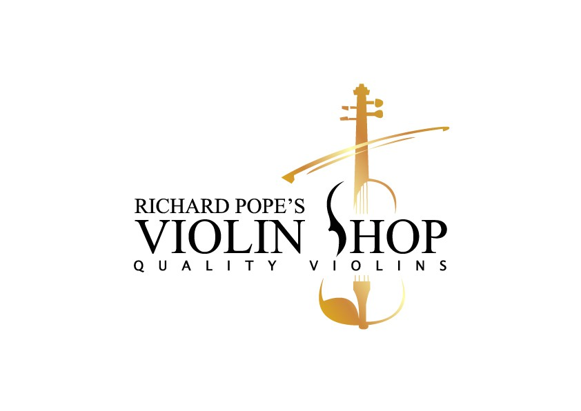 Classic and Mature Logo for Violin Shop in St Louis, MO.