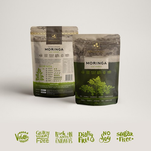 Upscale Packaging for Eat Moringa Products