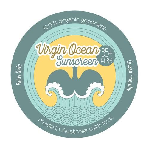 Label for Ocean Friendly Sunscreen
