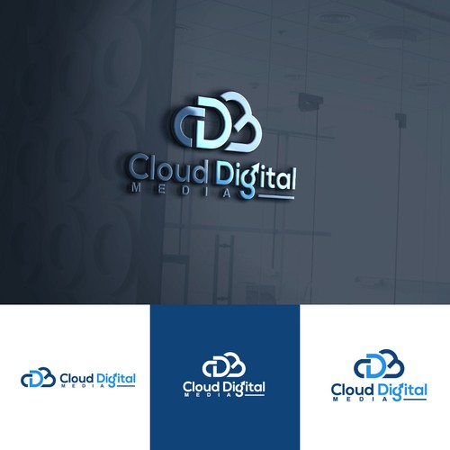 Modern Logo For Cloud Digital Media