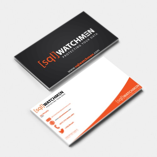 Business Card for SQL Server database administration consulting company