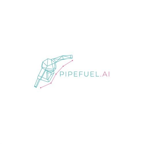 Elegant logo concept for pipefuel.ai