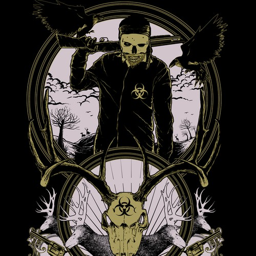 Awesome Hunter Skull Shirt