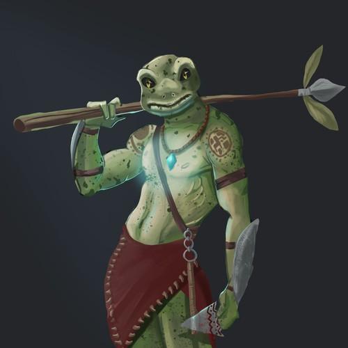 Character Design - Warrior Frog