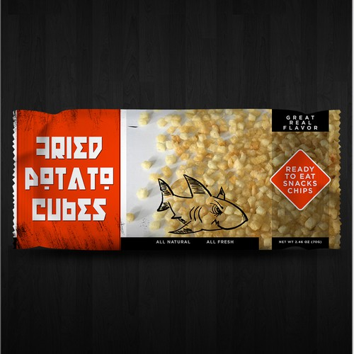 Design our product pack/packaging for Snacks/Chips