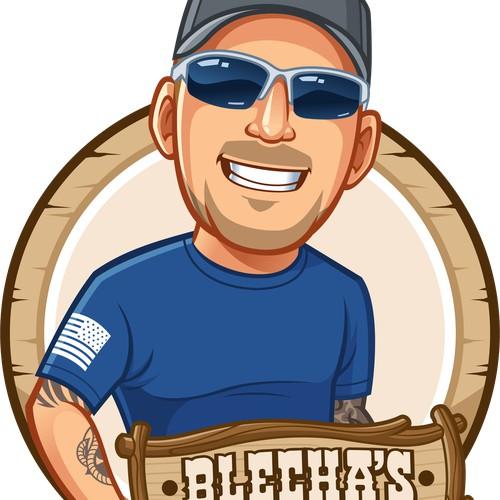 Blechas Custom Sign Logo Design