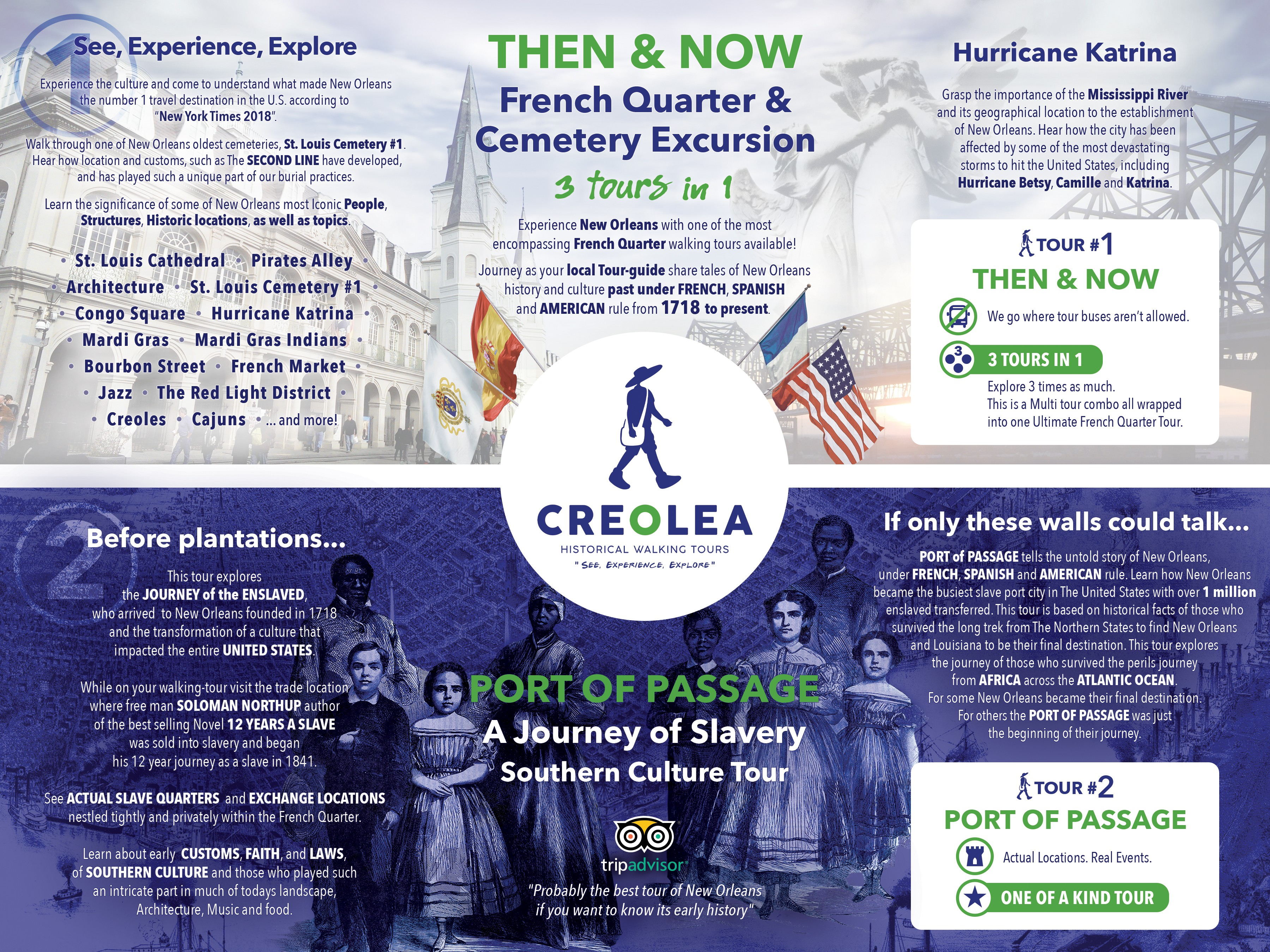 Creolea Historical Tours of New Orleans - new changes (Dec.2019)