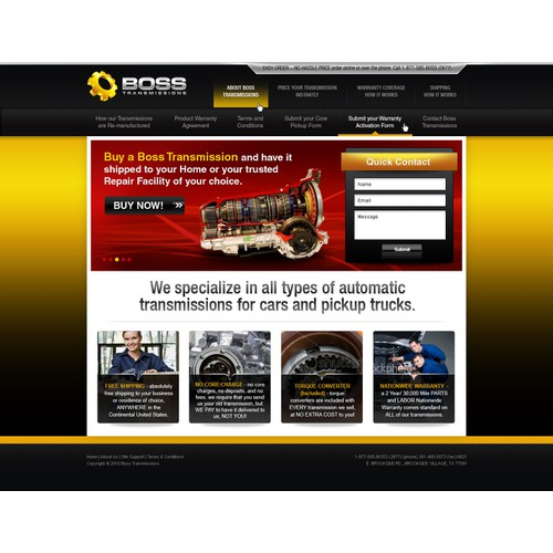 Automotive transmissions remanufacturer website