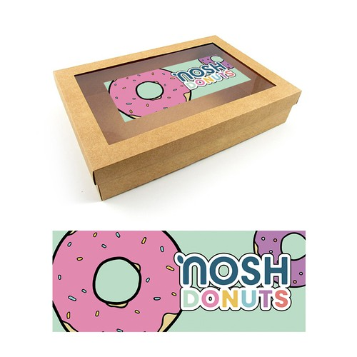 Sticker design for Nosh Donuts