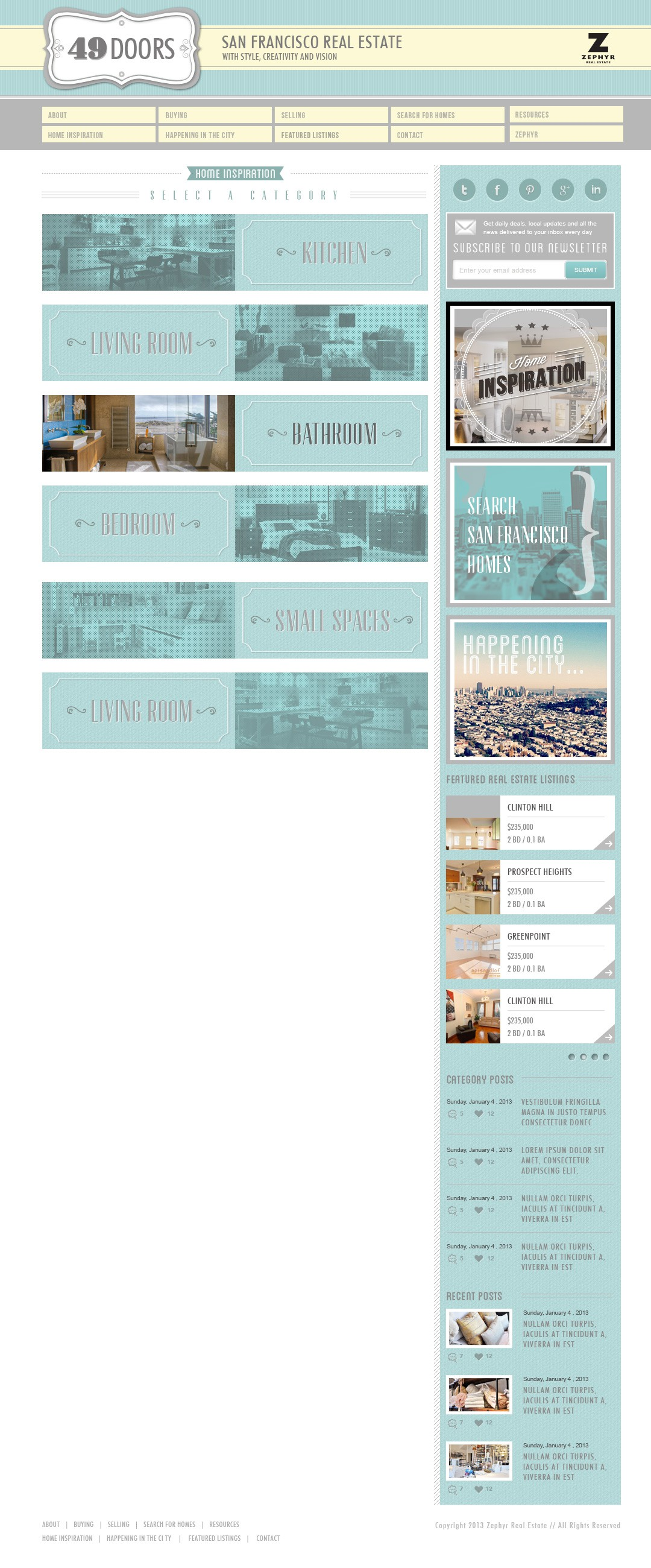 Design an awesome look for a real estate website that doesn't look like a real estate website
