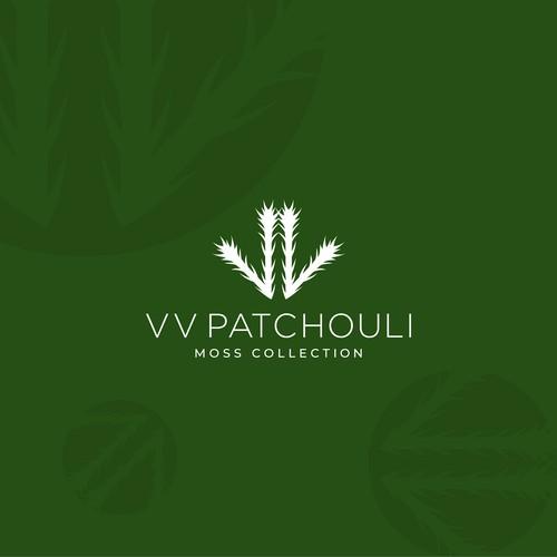 Unique logo design concept for VV patchouli