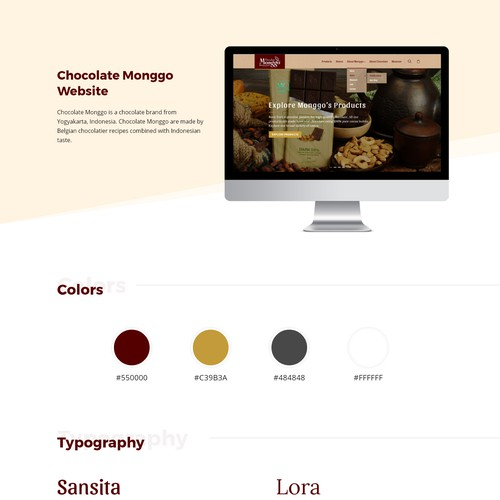 Chocolate company website