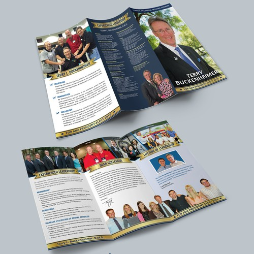 Tri-fold Brochure Design for Election Campaign