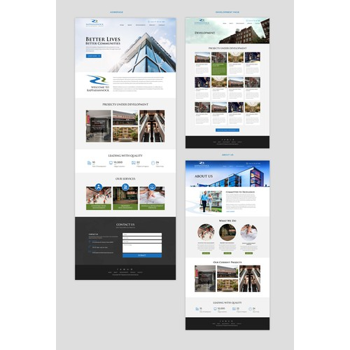 Web designs for property developer