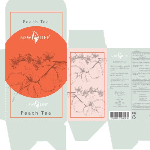 Peach Tea Packaging