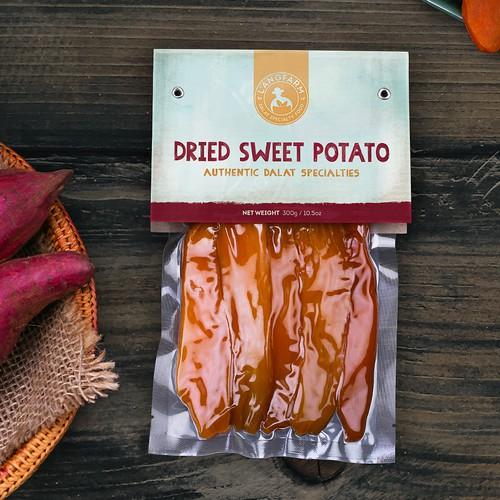 L'angfarm Dried Sweet Potato Label