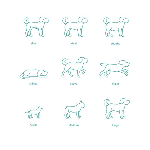 9 Dogs line sketches