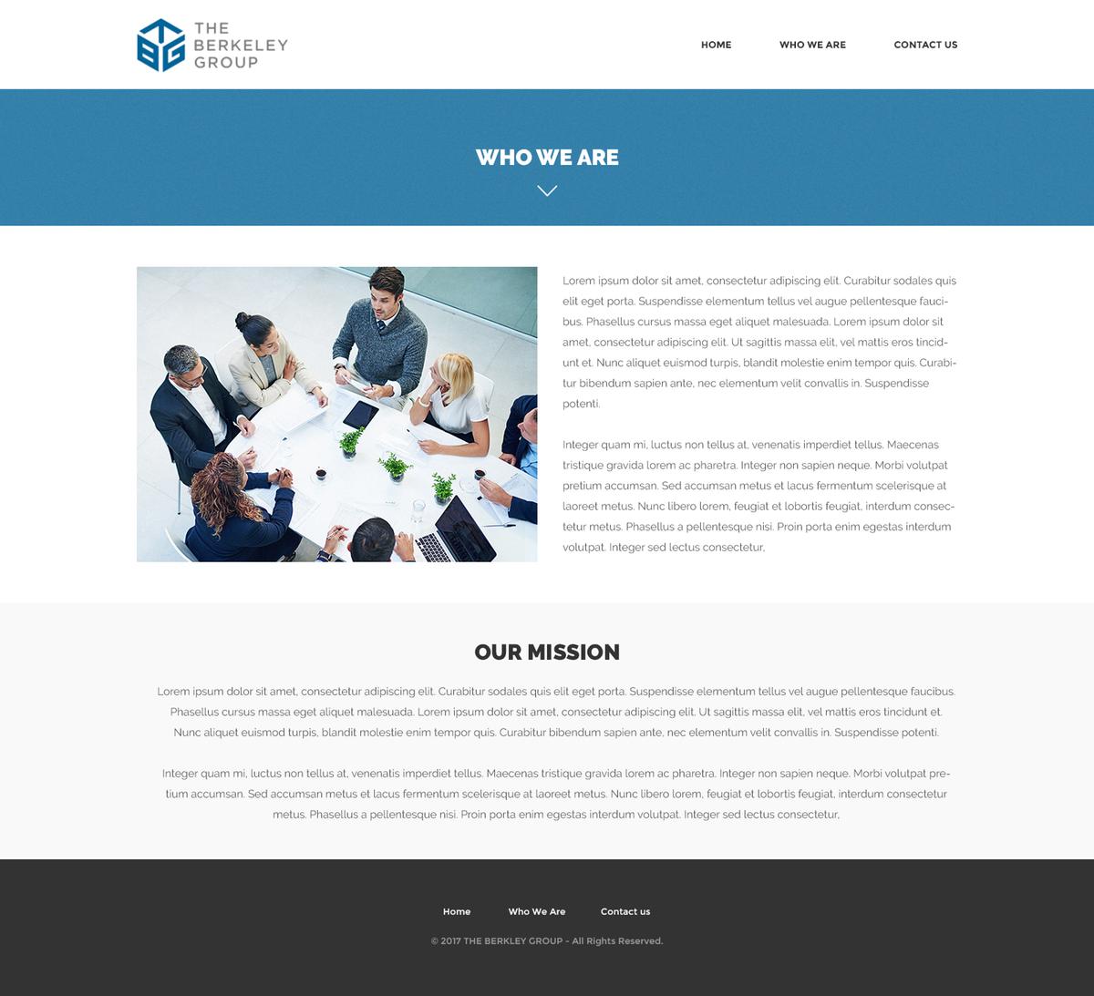 Berkeley Group Landing Page