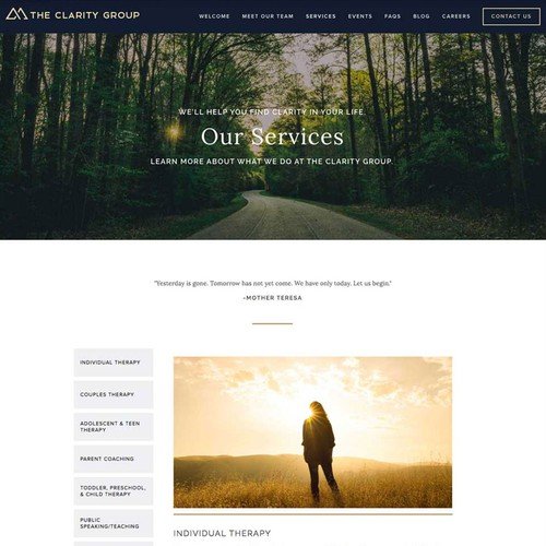 Website Design & Development for Therapy Practice