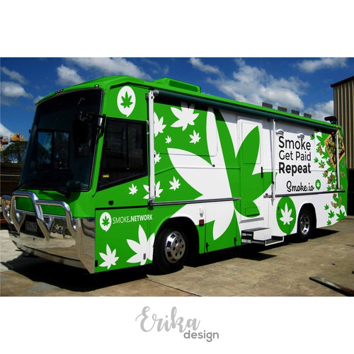 Cannabis social network needs a dope motorhome wrap