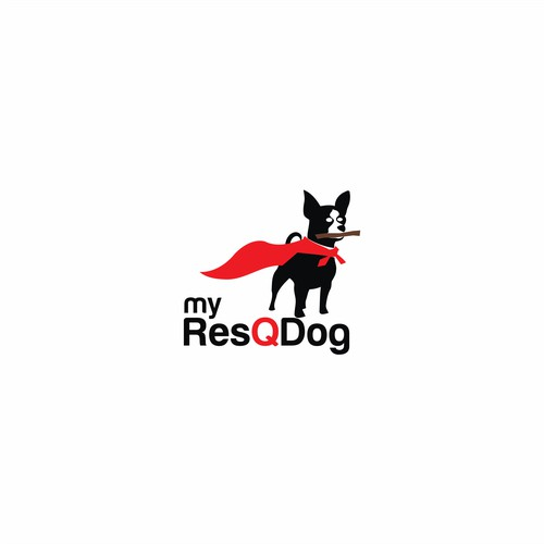 Bold logo for my resQ dog