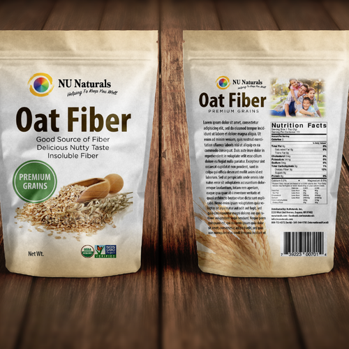 Product Packaging Design for Oat Grains