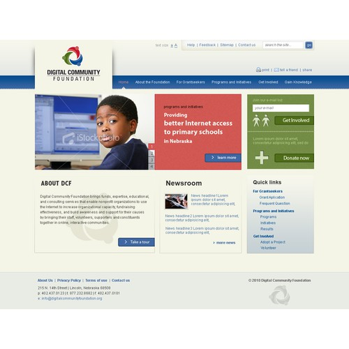 Website Design for the Digital Community Foundation