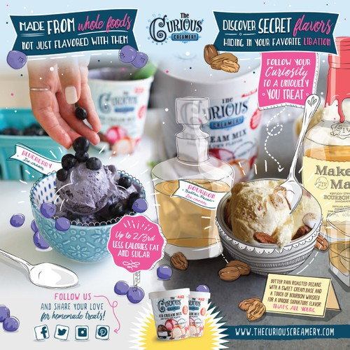 Fun and personalized recipes for an Ice Cream trade show banner