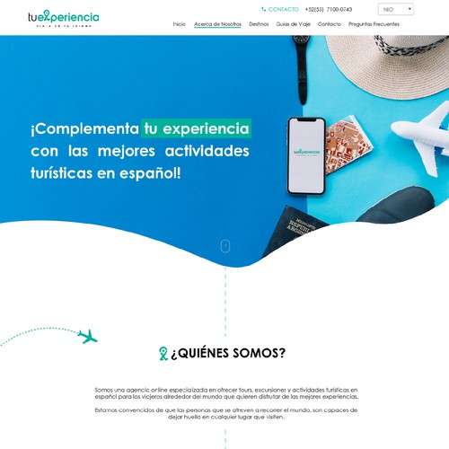Tu Experiencia, about section
