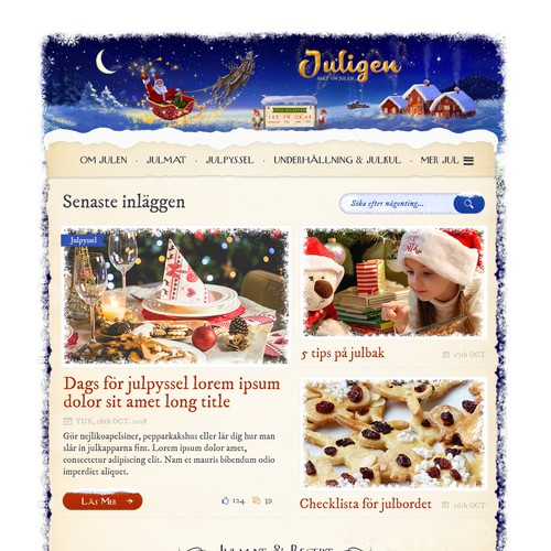 Redesign of Sweden's largest Christmas site!
