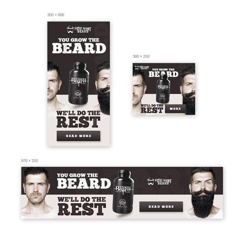 Banner ads for beard company.